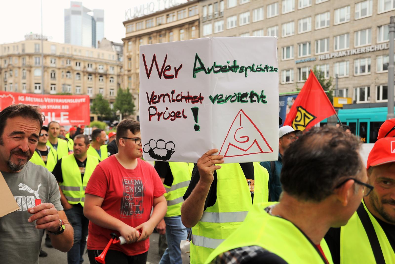 Demonstration Frankfurt Termine